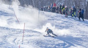 JON POLSON The Vermont Cynic First Year Griffin Brown competes in the Slalom event at Middlebury Carnival Feb. 13. The cats took fourth place at this year's NCAA Championships in Lake Placid, New York.