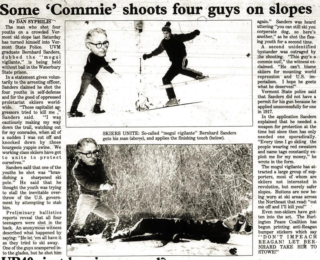 APRIL FOOLS - some commie shoots four guys on slopes