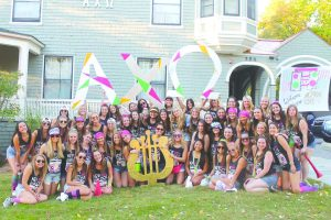 The Alpha Chi Omega sorority is pictured Sept. 28. PHOTO COURTE- SY OF BAILEY KIMBALL