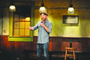 Stand up comedian Kyle Kinane performing a set. Kinane will be performing at the Vermont Comedy club March 18 and 19.