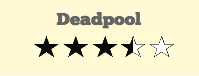 Deadpool rating